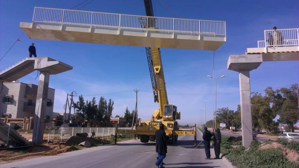 الانتهاء من الاعمال المدنية لجسر المشاة المجاور لمستشفى الحوادث بنعيمة